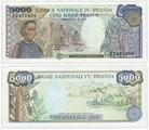 Банкнота Руанда 5000 франков 1988 (Pick 22a) A373101A