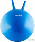 Фитбол с рожками Torres AL100455 (синий)