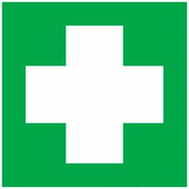 """Наклейка знак медицинского назначения Rexant """"Аптечка первой медицинской помощи"""" (100х100 мм) {56-0070}"""