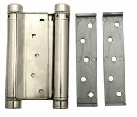 Петля дверная пружинная амортизирующая + тормоз Aldeghi 101AN125B 125x42x48 никель