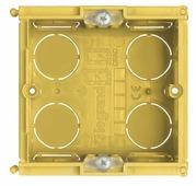 Коробка установочная на 2 модуля, для бетонных стен 70 мм. х 70 мм. Bticino. 502E