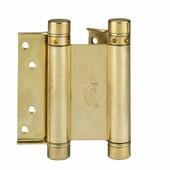 Петля дверная пружинная амортизирующая Aldeghi 101AO100B2 100x33x37 полированная латунь