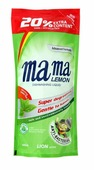 """Lion (Лион) Гель для мытья посуды и детских принадлежностей Mama Lemon """"Green Tea"""", концентрат, сменная упаковка, 600 мл"""