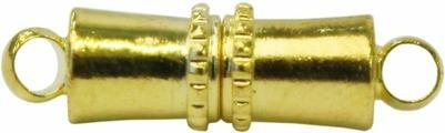 """Застежка для бус магнитная """"Астра"""", цвет: золотистый, 5 х 16 мм, 2 шт. 7704274"""