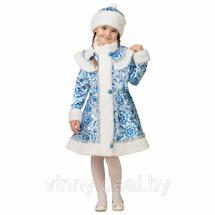 Карнавальный костюм Снегурочка Гжель 2 батик Арт. 8082