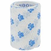 """Бандаж для животных Andover """"Pet Flex"""", цвет: белый, голубой, 7,5 см х 450 см"""