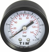 "Манометр аксиальный TIM, 10 Бар, класс точности 1,5, 1/4""н, МР-У"