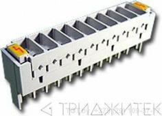 Магазин защиты по напряжению, 10 пар, TWT, без трехконтактных разрядников (аналог Krone)