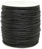 Шнур вощеный, цвет: черный, 2 мм x 100 м