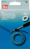 "Кольца для обвязывания крючком ""Prym"", диаметр 3,6 см, 50 шт"