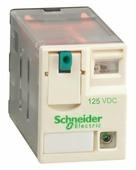Реле 4 co светодиод 125в пост тока Schneider Electric, RXM4AB2GD