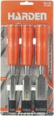Набор долот-стамесок Harden, 611001, усиленных, плоских, 13-19-25 мм, 3 штуки