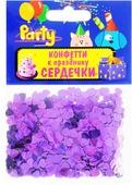 Action! Конфетти Сердечки цвет фиолетовый 14 г