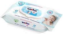 Детские влажные салфетки YokoSun,64 шт.