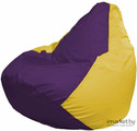 Кресло-мешок Flagman Груша Мега Г3.1-35 фиолетовый/желтый