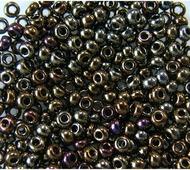 """Бисер """"Preciosa"""", непрозрачный, с радужным покрытием, цвет: бронзовый, фиолетовый (59115), 10/0, 5 г"""