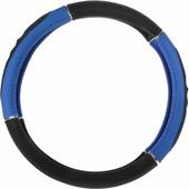 """Оплетка руля """"Autoprofi GL-1020"""", наполнитель: гель, цвет: черный, синий. Размер M (38 см)"""