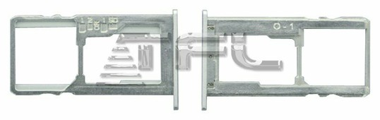 Сим лоток для Asus ZC553KL, 13020-03200300 (серебро)