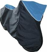 "Чехол ""AG-brand"", для мотоцикла BMW 650, цвет: черный, голубой"