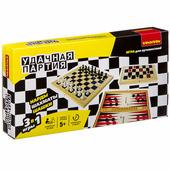Bondibon (Бондибон) Удачная партия BONDIBON, 3 в 1 (шахматы, шашки, нарды), арт. ВВ3490