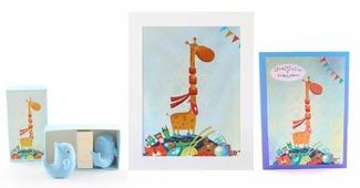 Подарочный набор детский Dream Service GS-3, 8027 синий, белый, голубой