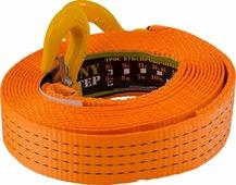 """Стропа буксировочная """"KennyМастер"""", с крюками, цвет: оранжевый, 6 т, 5 м"""