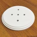 """Подложка одноместная деревянная (105мм, установ.95мм) """"Царский Стиль"""" ASR-80501, цвет: белый"""