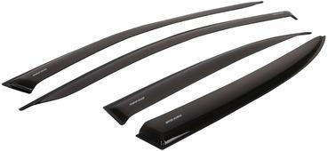 """Дефлекторы окон Voron Glass """"Corsar"""", для Mitsubishi Pajero Sport 2008-н.в., внедорожник, 4 шт"""