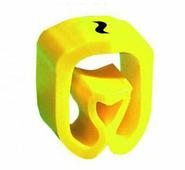 """Маркер закрытого профиля Partex PA-1 на провод 1.5-4.0 мм², символ """"~"""", желтый/черный (катушка 1000 шт.) {PA-1..."""