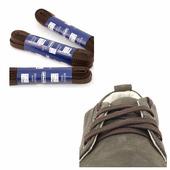 Шнурки Saphir 75см. Плоские (732 тем.коричневый)