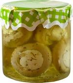 Грибочки фаршированные сыром, в масле, ELLATIKA, стеклянная банка, 210 гр