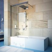 Шторка на ванну Gutewetter Slide Pearl GV-862 70x160 (хром)