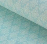 """Ткань Кустарь """"Винтажные Гортензии №2"""", цвет: голубой, 48 х 50 см"""