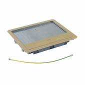 Крышка для напольной коробки латунь стандартное исполнение 12-18 модулей. Цвет Латунь. Legrand (Легранд). 088007
