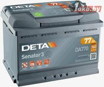Аккумулятор для легковых автомобилей Deta Senator 3 DA770 (77 А/ч)