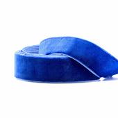 Бархатная лента 25 мм, цвет голубой