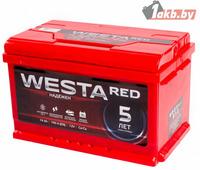 Аккумулятор для легковых автомобилей Westa RED 6СТ-74 низкая 74 Ah, 760A R+