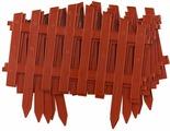 "Забор декоративный Palisad ""Марокко"", цвет: терракоторвый, 28 см х 3 м"