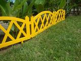 Заборчик декоративный №4 Modern 3м высота 35см (5 эл.) желтый
