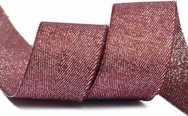Тесьма киперная металлизированная Ideal, TBYT15, красный, 25 мм х 22,85 м