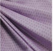 """Ткань Кустарь """"Разноцветный горошек и завитушки №37"""", цвет: сиреневый, 48 х 50 см"""