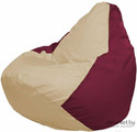Кресло-мешок Flagman Груша Мега Г3.1-150 светло-бежевый/бордовый