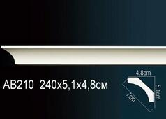 Лепнина Гибкий потолочный плинтус перфект AB210F