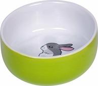 Миска для грызунов Nobby Rabbit, белый, светло-зеленый, 73751, 200 мл