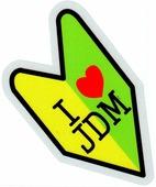 """Наклейка CLXT 143 """"Люблю JDM"""" светоотражающая, размер 13*13см"""