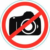 "Наклейка запрещающий знак Rexant ""Фотосьемка запрещена"" (150х150 мм) {56-0043}"