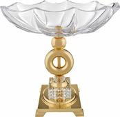 Декоративная чаша Lefard, 322-248, золотистый, 38 х 20 х 36 см