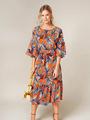 Электронная выкройка Burda - Платье с объёмными оборками на рукавах 5 C