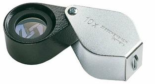 Лупа техническая ахроматическая складная в металлическом корпусе Eschenbach диаметр 15 мм, 10.0х