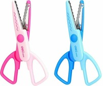 Ножницы детские 136 см Neon, фигурные лезвия, нержавеющая сталь, 2 дизайна (Deli)
